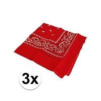Bellatio 3 rode boeren zakdoeken