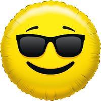 Folie ballon coole smiley 45 cm