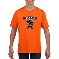 Shoppartners Oranje Holland shirt met zwarte leeuw kinderen Oranje
