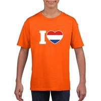 Shoppartners Oranje I love Holland shirt kinderen Oranje