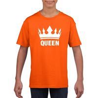 Shoppartners Oranje Koningsdag shirt met kroon meisjes Oranje