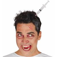 Injectiespuit in het hoofd diadeem