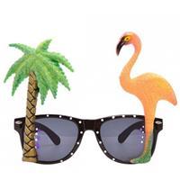 Bellatio Tropische bril met flamingo