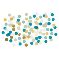 Confetti mix blauw/wit/goud 15 gram