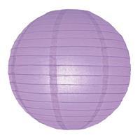 Bellatio Luxe bol lampion lila 25 cm