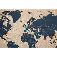 Gifts & More Woody Map Kurken Wereldkaart