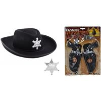 Shoppartners Cowboy accessoire set zwart voor kinderen