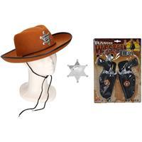 Shoppartners Cowboy accessoire set bruin voor kinderen