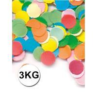 Luxe confetti 3 kilo multicolor brandvertragend Multi
