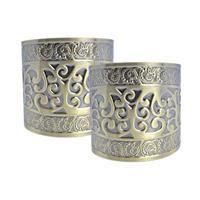 2x Romeinse armbanden van goud Goudkleurig