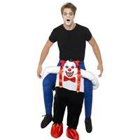 Smiffys Instapkostuum enge horror clown voor volwassenen