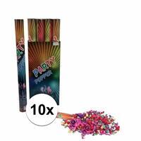 10 stuks Confetti kanonnen kleuren 60 cm