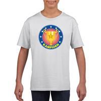 Shoppartners Wit kampioen shirt voor kinderen
