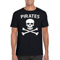 Shoppartners Piraten verkleed shirt zwart heren Zwart