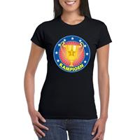 Shoppartners Zwart kampioen shirt voor dames