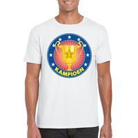 Shoppartners Wit kampioen shirt voor heren