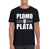 Shoppartners Zwart plomo o plata shirt voor heren