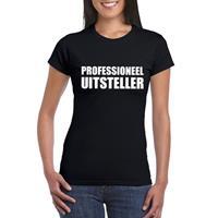 Shoppartners Zwart professioneel uitsteller shirt voor dames