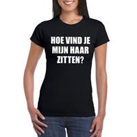 Shoppartners Zwart hoe vind je mijn haar zitten? shirt voor dames