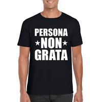 Shoppartners Zwart persona non grata shirt voor heren