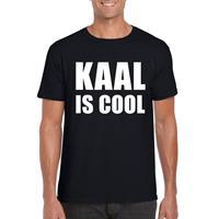 Shoppartners Zwart kaal is cool shirt voor heren