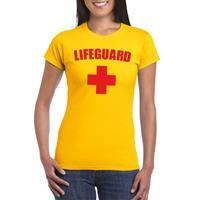 Shoppartners Lifeguard/ strandwacht verkleed shirt geel dames Geel