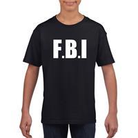 Shoppartners FBI tekst t-shirt zwart kinderen (134-140) Zwart