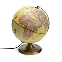 Antieke Globe - wereldbol met lamp