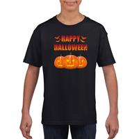 Shoppartners Happy Halloween t-shirt zwart kinderen (146-152) Zwart