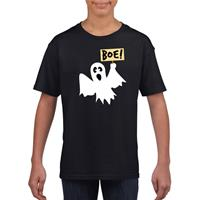 Shoppartners Halloween spook t-shirt zwart kinderen (146-152) Zwart