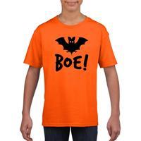 Shoppartners Halloween vleermuis t-shirt oranje kinderen (134-140) Oranje