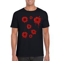 Shoppartners Schotwonden t-shirt zwart heren Zwart