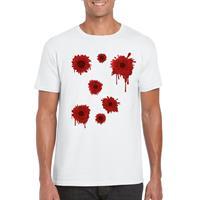 Shoppartners Schotwonden t-shirt wit heren Wit