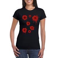Shoppartners Schotwonden t-shirt zwart dames Zwart