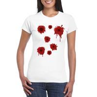 Shoppartners Schotwonden t-shirt wit dames Wit