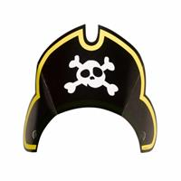 Amscan feesthoedjes piraten zwart 8 stuks