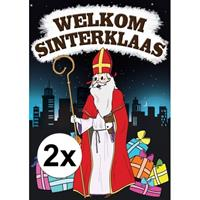 Shoppartners 2x Deurposter Sinterklaas A1 Multi