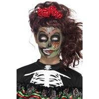 Mooie Day of the Dead zombie make-up set compleet