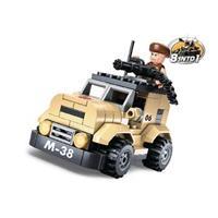 Sluban M38-B0587A Bouwstenen Army Patrol car