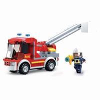 Sluban Bouwstenen Fire Serie Kleine Brandweerwagen