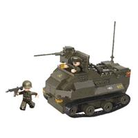 Sluban M38-B0281 Bouwstenen Army Serie Gepantserd Voertuig