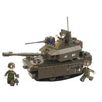 Sluban M38-B0287 Bouwstenen Army Serie Tank