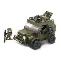 Sluban M38-B0299 Bouwstenen Army Serie SUV