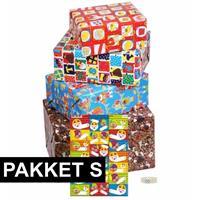 Shoppartners Sint cadeaupapier pakket met etiketten Multi