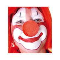 50x stuks rode clowns neus/neuzen foam Rood