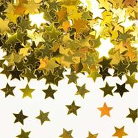 Gouden sterren confetti zakjes van gram Goudkleurig