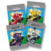 8x Race/Formule 1 thema feestzakjes Multi