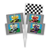8x Race/Formule 1 thema zwaaivlaggetjes Multi