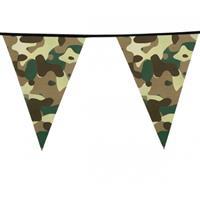 Camouflage vlaggenlijn 6 meter Groen