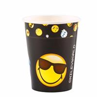 Smiley emoticons bekers 8 stuks Multi